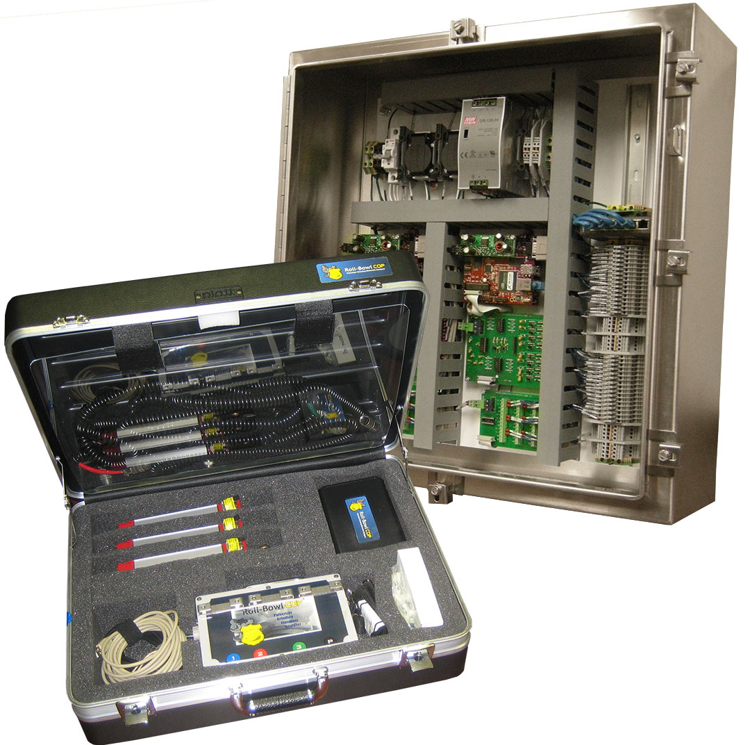 Coal Mill vibration monitoring instrumentation and data acquisition hardware